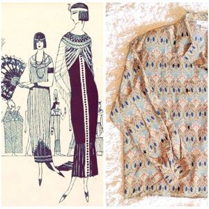 VTG EGYPTIAN REVIVAL DOUBLE BREASTED JACKET